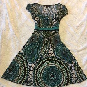 Short sleeve dress, knee length